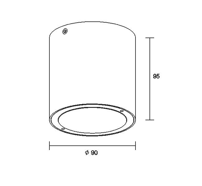 RUNDEL ROUND-C COB 7W 220V IP65
