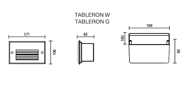 TABLERON IP 67 draw W and G